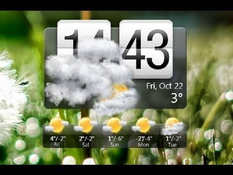 Tutorial: How to Get Animated Weather Widget & Clock! Android iPhone HTC  Google Nokia Windows