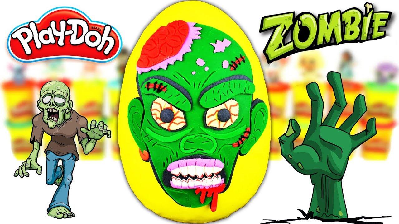 Huevo Sorpresa Gigante de Zombie Muerto Viviente de Plastilina Play doh en Español Viernes de Terror