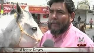 Presta la SSP 70 caballos para la representación de la Semana Santa en Iztapalapa