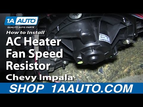 How To Replace An Ac Heater Blower Fan Resistor On A 2008
