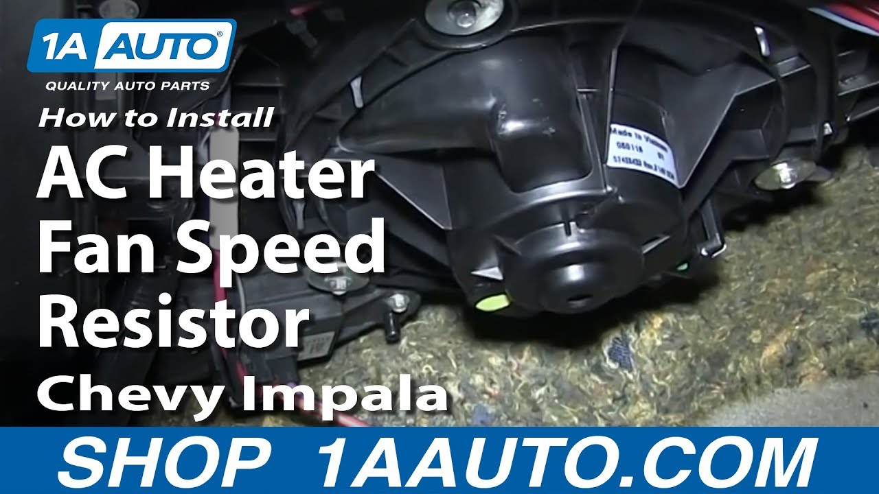 medium resolution of how to install replace ac heater fan speed resistor 2006 12 chevy impala