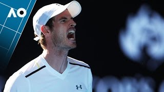 Murray hits himself in the face | Australian Open 2017