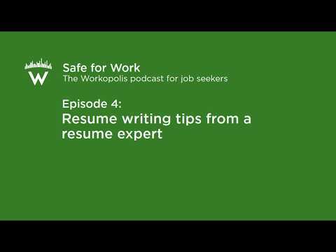 Episode 4 Resume writing tips from a resume expert - YouTube