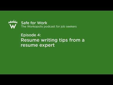 Resume writing experts youtube