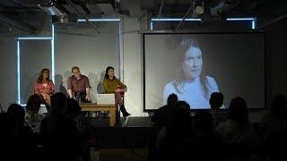 Foyles bookshop screens video-books of Rohan Quine's novellas, in Novel London LitFest