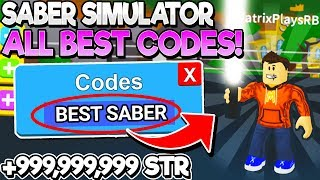 ALL NEW BEST CODES for SABER SIMULATOR! BOSS UPDATE 2! (Roblox)