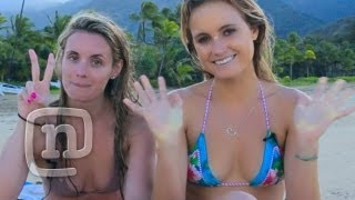 Video Learn To Surf With Pro Surfer Alana Blanchard! download MP3, 3GP, MP4, WEBM, AVI, FLV November 2017