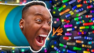 I BECAME THE LARGEST SNAKE In SLITHER.IO WITH THE PRINCE FAMILY