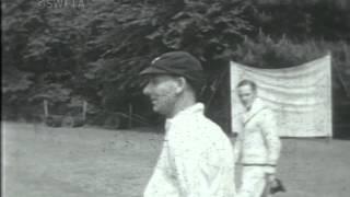 England and Surrey cricketer, Jack Hobbs, visits Hillsbrow School, Surrey, 1932