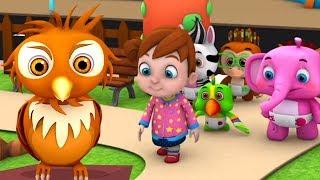 Мудрая старая сова | детские песни | русский мультфильмы | Rhymes for Children |  A Wise Old Owl