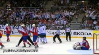 Finsko - Norsko: čtvrtfinále MS v hokeji 2011 (obsáhlý sestřih)