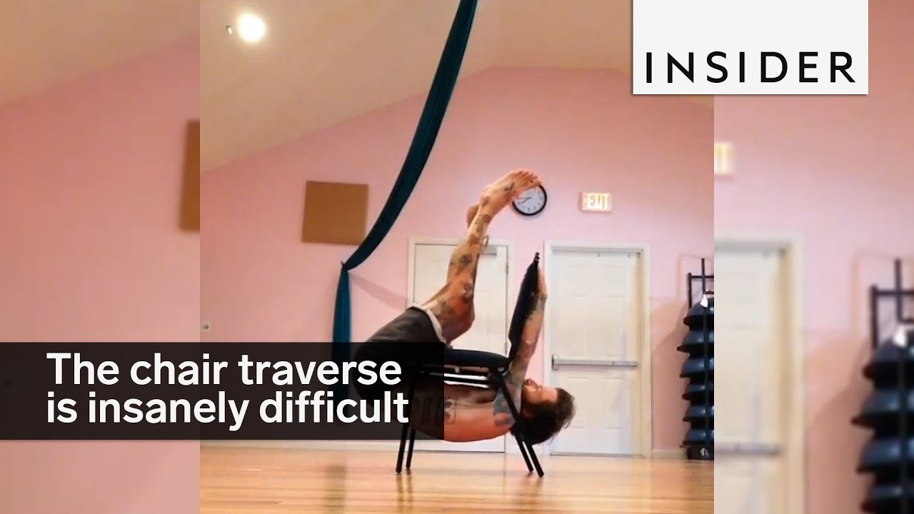 Crawling underneath your chair is the latest workout challenge
