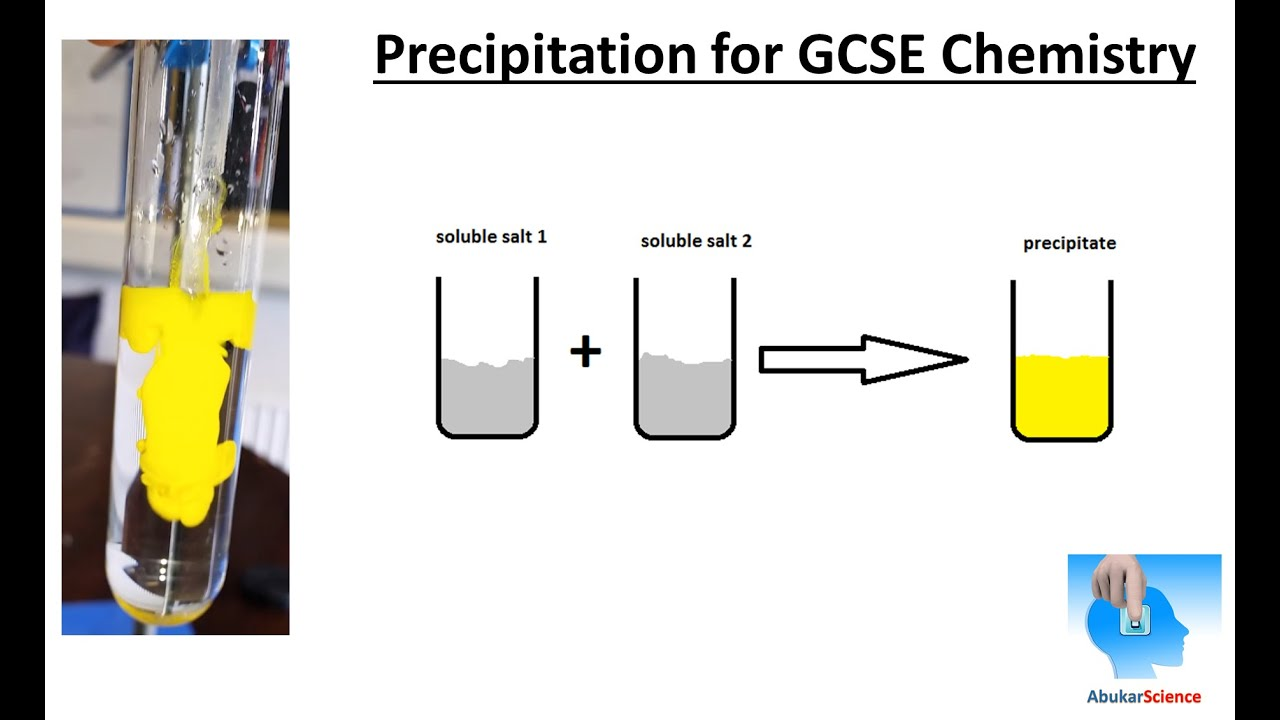 Chemical reaction precipitate