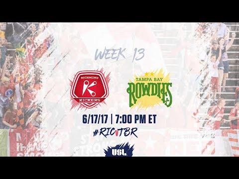 USL LIVE - Richmond Kickers vs Tampa Bay Rowdies 6/17/17