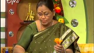 Making of Stocking Cloth Flower by Kalpana on sakhi etv2 27th May 2013.