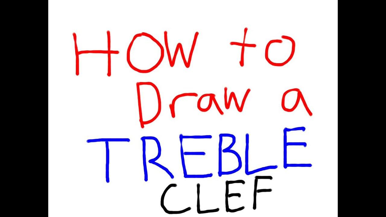 How to Draw a Treble Clef How to Draw a Treble Clef new photo