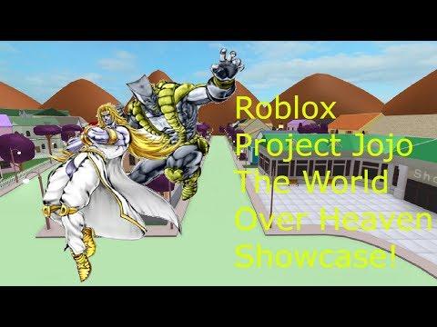 Roblox Project Jojo The World Over Heaven Showcase
