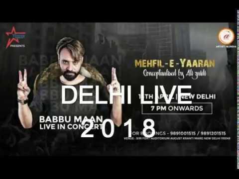 Babbu Maan |Delhi Live Full 2018| Ik C Pagal