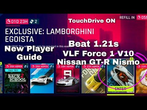 Asphalt 9 - Egoista Exclusive Event Guide - Beat 1.21s - VLF Force 1 V10 & Nissan GT-R Nismo - TD
