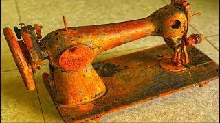 Restoration machine sewing antique Japan | Engineer  method of sewing tools old Restore
