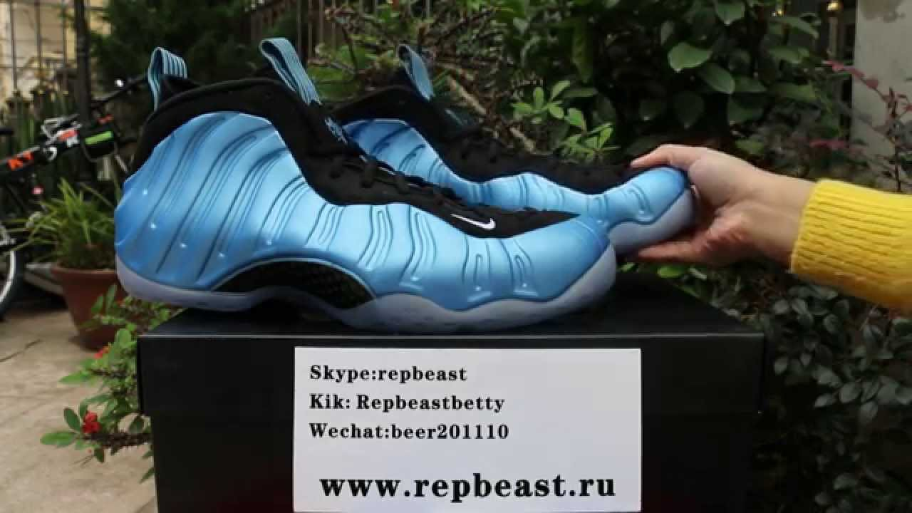 """8146c9357bd Nike Air Foamposite One """"University Blue"""" Unboxing Review from Repbeast.ru  - YouTube"""
