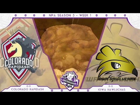 Colorado Rapidash vs Iowa Hawluchas   NPA S3W1   Pokemon Sun and Moon Wifi Battle