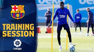 Dembélé scores golazo in training!
