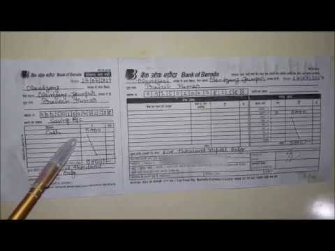 Bank Of Baroda Deposit Slip Pdf