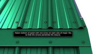 How To Install Gambrel Trim For Union's Masterrib Panel.