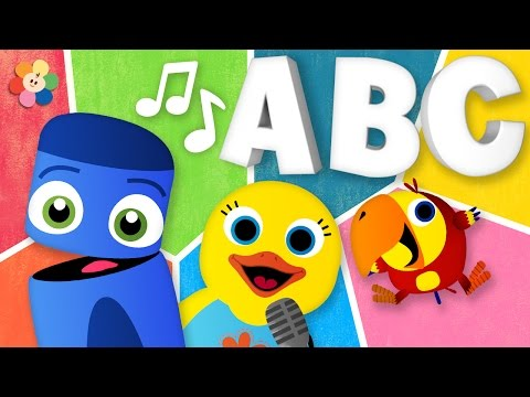 ABC song  Learn the ABCs with Color Crew and Friends  Nursery Rhymes for Kids  BaFirst TV