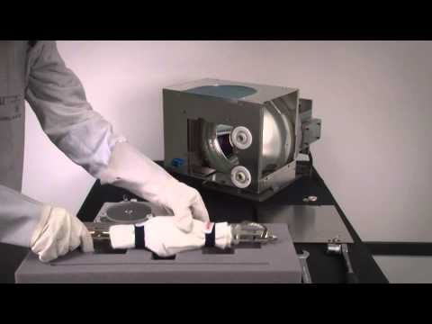 Changing the lamp on your Barco digital cinema projector (DP90, DP100 &  DP3000)