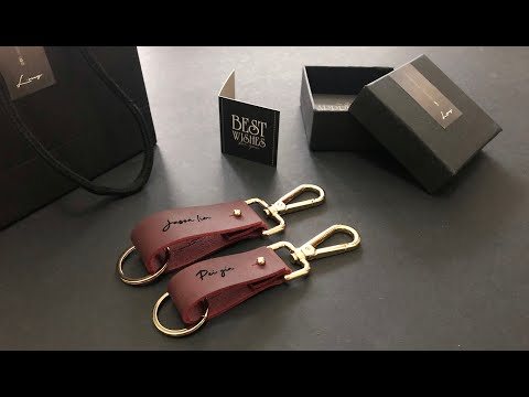 Best Valentine's Gift - Leather couple keychain with name!
