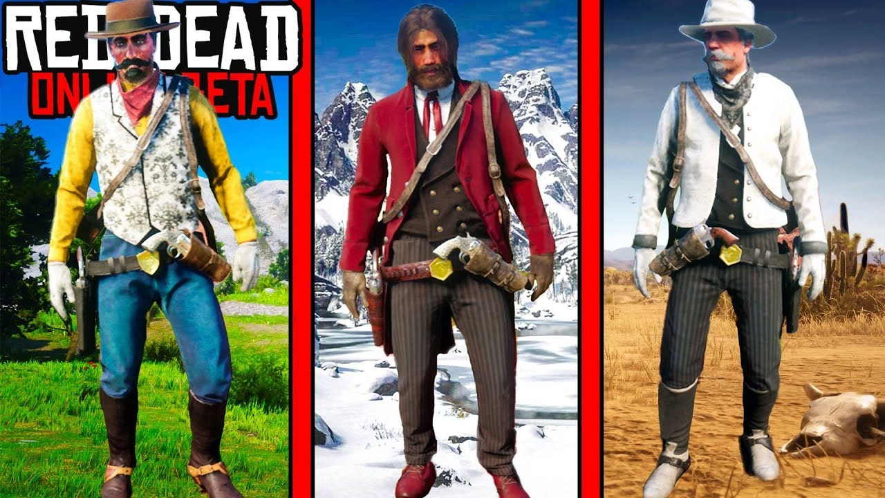 SECRET BEST OUTFITS in Red Dead Online! RDR2 Fashion Show in Red Dead  Redemption 2!