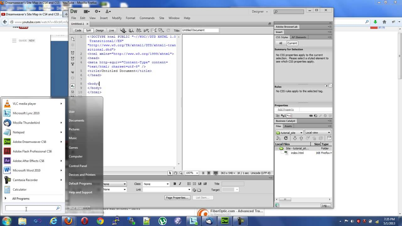 dreamweaver cs6 map view how to youtube