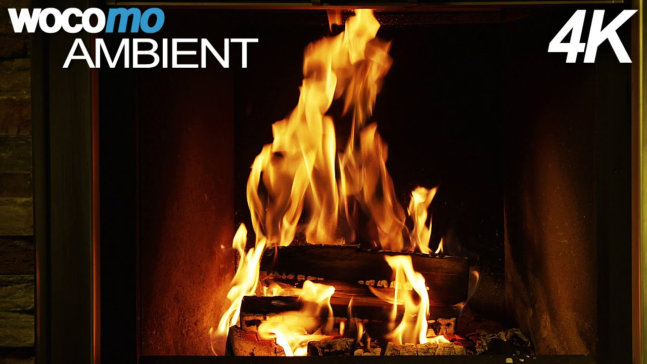 romantic fireplace with lounge music 4k resolution youtube