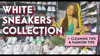White Sneakers Collection + Cleaning & Fashion Tips
