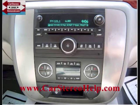 GMC Sierra CD Player Removal