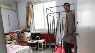 Brain Damaged Man Is Kept In A Cage For 40 Yrs