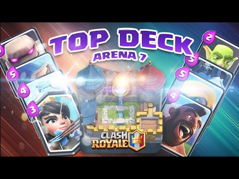Clash royale fr le meilleur deck en ar ne 7 youtube for Deck arene 5 miroir
