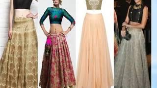 Silk Skirt Crop Top 2018 | Crop Top designs | Crop Top designs 2018 | Crop Top designs for girls