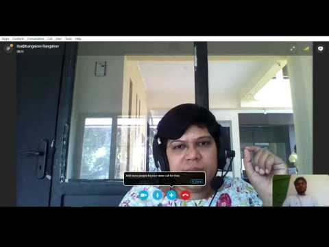 Real Skype interview - Online video call interview