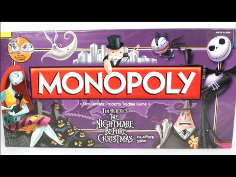 Monopoly: Tim Burton's The Nightmare Before Christmas Collector's ...