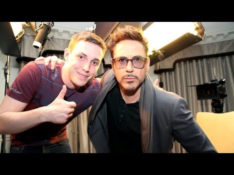 Robert Downey Jr talks to Chris Stark of the Scott Mills show on Radio 1