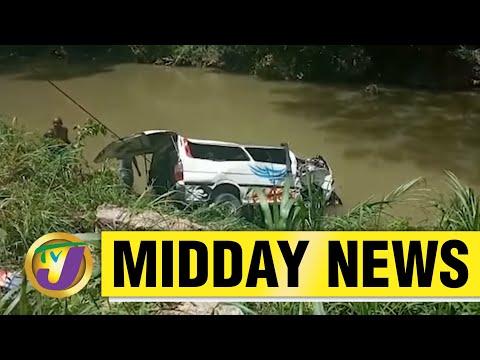 13 Injured in Bog Walk Gorge Accident in Jamaica   TVJ Midday News - June 8 2021
