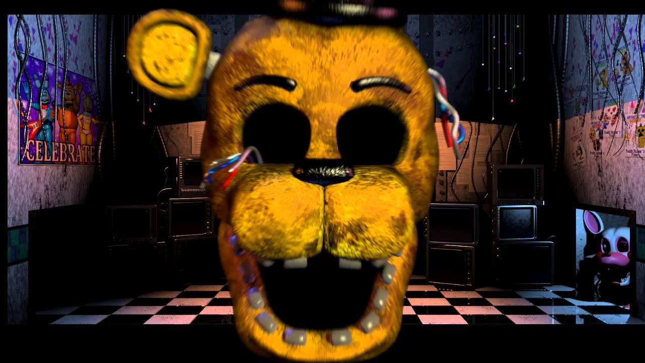 FNAF 2 - Golden Freddy Jumpscare - YouTube