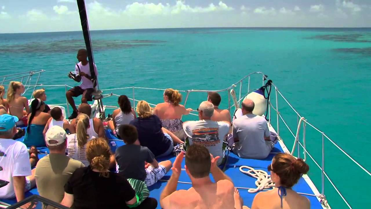 Catamaran Coral Reef Snorkel Youtube