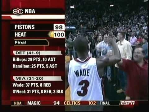 February 12, 2006 - ESPN - Game 51 Miami Heat Vs Detroit Pistons - Win (31-20)(Sportscenter)