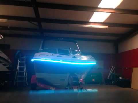 RGB lighting on exterior boat rub rail   YouTube. Exterior Led Lights For Boats. Home Design Ideas