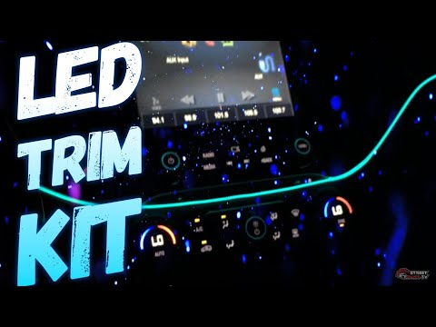 Interior LED Lighting Kit At Night Time Blue Ambient Lights 2015 Impala LED TRIM Install