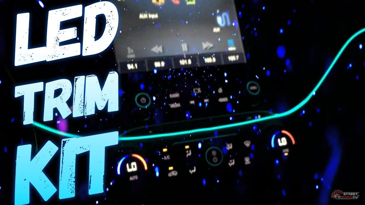 Interior Led Lighting Kit At Nighttime Blue Ambient Lights 2017 Impala